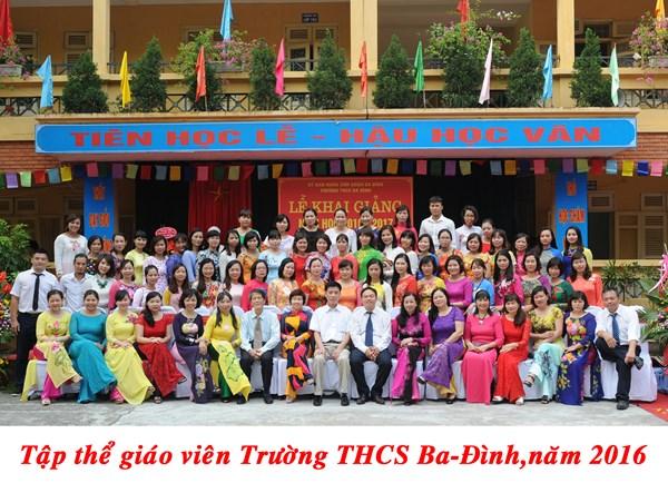 Trường THCS Ba Đình - Nơi chắp cánh những ước mơ