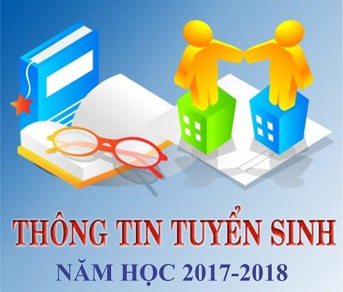 Thông báo tuyển sinh năm học 2017 - 2018