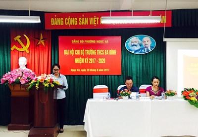 Đại hội Chi bộ trường THCS Ba Đình nhiệm kỳ 2017 - 2020