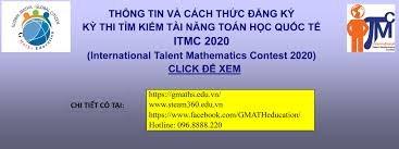 Kỳ thi Toán học Quốc tế ITMC 2020