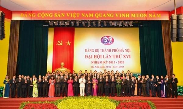 Đại hội Đảng bộ Hà Nội lần thứ XVI thành công tốt đẹp