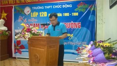 Bài phát biểu của đại diện cựu học sinh lớp 12d (1995-1998) tại buổi gặp mặt kỷ niệm 20 năm ra trường