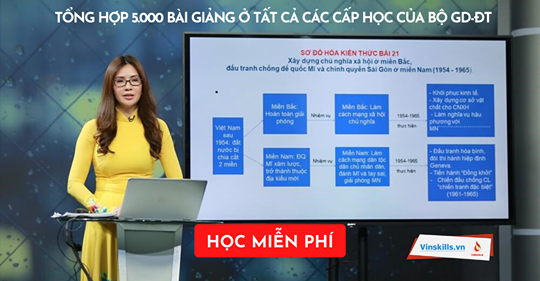 Học tập miễn phí trên kho dữ liệu 5.000 bài giảng ở tất cả các cấp học của bộ gd-đt