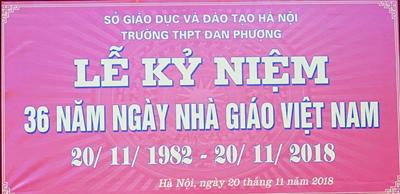 Trường thpt đan phượng hân hoan trong  lễ kỉ niệm 36 năm ngày nhà giáo việt nam 20/11/2018