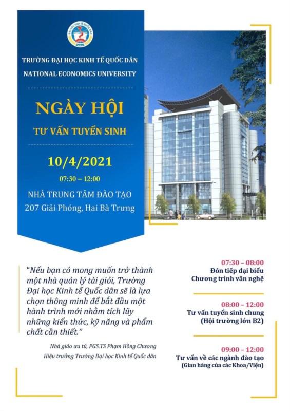 Ngày hội tuyển sinh của trường đại học kinh tế quốc dân