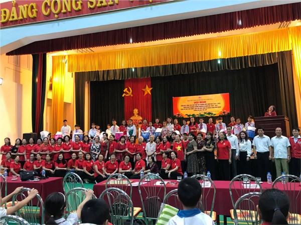 Hội chữ thập đỏ trường hồng thái tham dự hội nghị tổng kết năm học 2019-2020 huyện  đan phượng