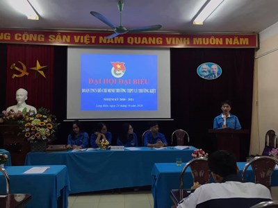 Đại hội Đoàn TNCS Hồ Chí Minh trường THPT Lý Thường Kiệt