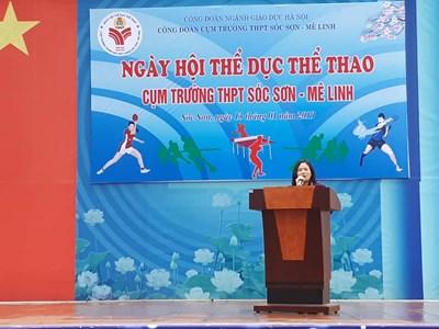 Một số hình ảnh thầy cô tham gia ngày hội thể thao cụm Sóc Sơn - Mê Linh 2019