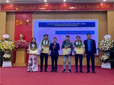 GVGD cấp TP thứ 21 của trường THPT Trung Giã được vinh danh Top 5 gương mặt trẻ tiêu biểu xuất sắc huyện Sóc Sơn năm 2021