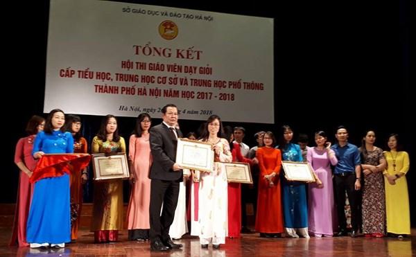 Cô giáo đạt giải  NHẤT hội thi GVDG cấp Thành phố năm học 2017-2018 của Sở GD-ĐT Hà Nội